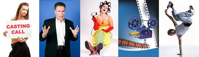 Künstler Casting von Entertainer und Schauspieler
