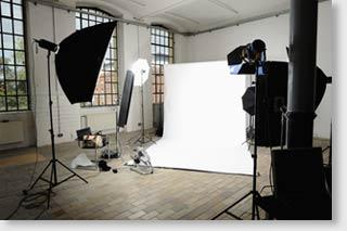 Ausstattung und Preisklassen für ein Fotostudio.
