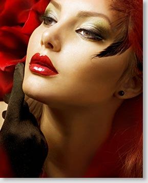 Schminktipps der Lippen für Models.